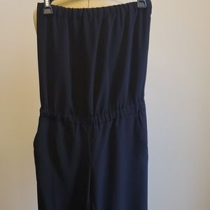 Ann Taylor Loft black strapless party jumpsuit